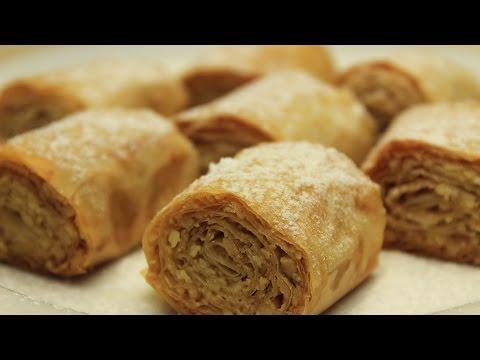 Trocken Baklava Rezept - Türkische Cookies mit Walnüssen und Tahini