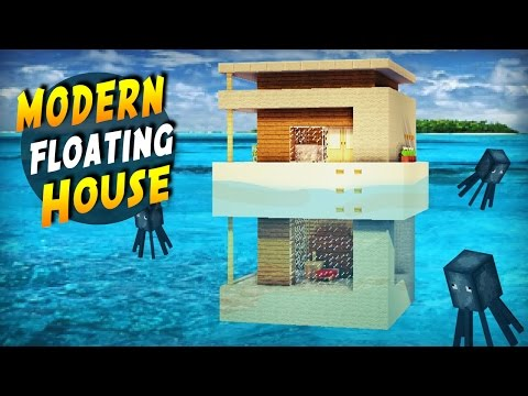 Minecraft: How to Build a Modern House on Water - Tutorial 2017