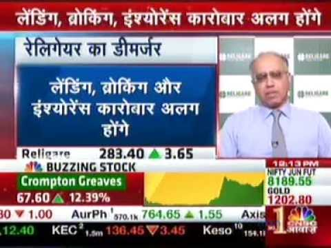 CNBC Aawaz - Mr. Sunil Godhwani on Religare's plan to simplify the corporate structure