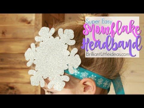 Super Easy Snowflake Headband