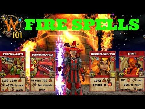 Wizard101: All Fire Spells Level 1-120 (2017)