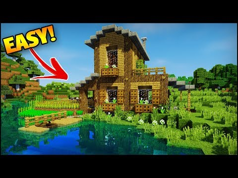 Minecraft: Amazing Starter/Survival House Tutorial - How to Build an Easy House/Base in Minecraft