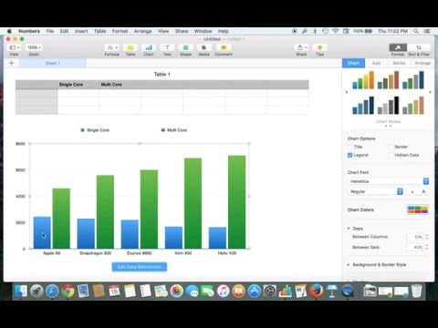 Creating a chart or graph on Mac