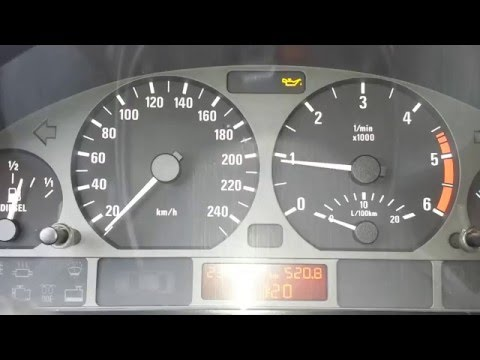 BMW E46 320d 330d 318 316 328 325 M3 oil sensor yellow light