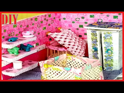 Cute Doll Nursery Diy | How to make a dollhouse baby doll Nursery tutorial