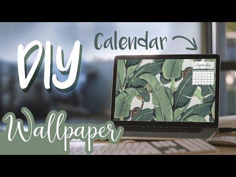 DIY Calendar Desktop Wallpaper 2017 ♡ Easy Tutorials with Reina | Reina Gulle
