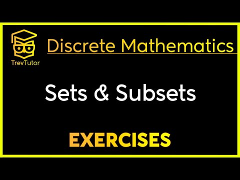 [Discrete Math 1] Sets and Subsets Examples