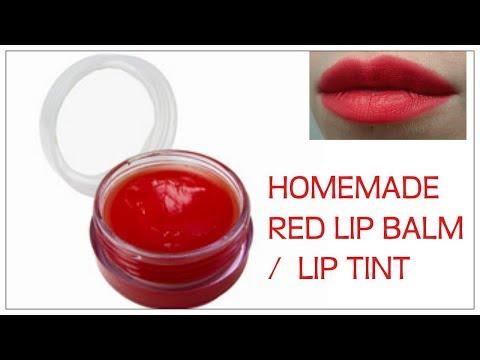 Homemade Red Lipbalm