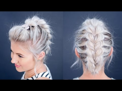 HOW TO: Pull Through Braid Short Hair Tutorial | Milabu