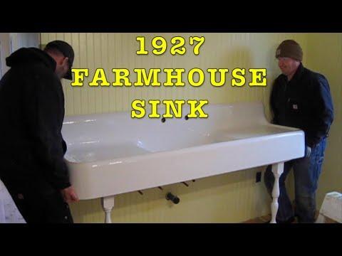 Building Farmhouse #19: 1927 Cast Iron Farmhouse Apron Sink