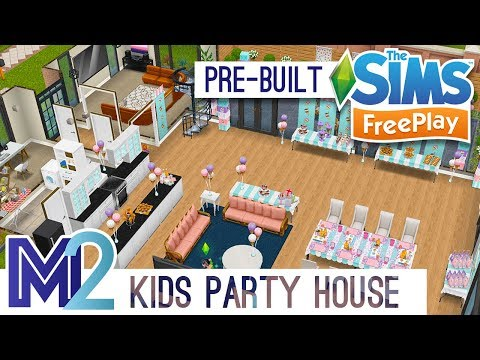 Sims FreePlay - Kids Party House Template Tour (Early Access)