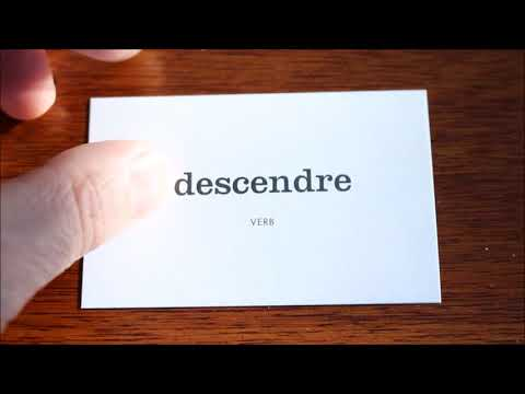 Learn French with Vincent # Flashcards on my table # Part 17