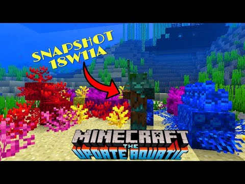 Minecraft 1.13 Snapshot 18w11a Shipwrecks and New Drowned Underwater Hostile Mob // Update Aquatic