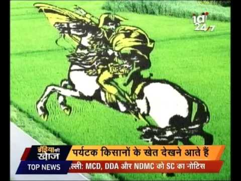 India Ki Khoj | Rice Paddy art by a farmer in Pune