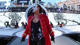 Sting makes an iconic entrance on The Grandest Stage of Them All: WrestleMania 31