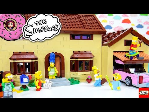 LEGO Simpsons House Build the Second Level Review Silly Play Kids Toys