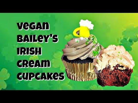 Vegan Baileys Irish Creme Cupcakes|| Gretchen's Vegan Bakery