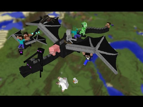 How To Ride Enderdragon In Minecraft 1.7