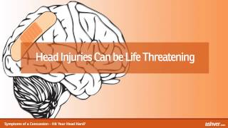Symptoms Of A Concussion Hit Your Head Hard
