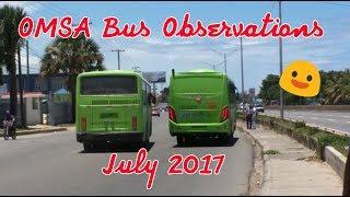 Oficina Metropolitana De Servicios De Autobuses (omsa): Bus Observations (july 2017)