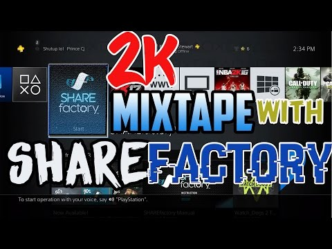 How To Make A 2k Mixtape with SHARE Factory (easy)