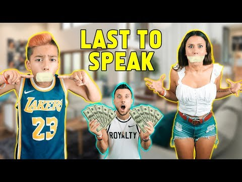 LAST Person TO SPEAK Wins $1000! *FUNNY CHALLENGE*   The Royalty Family