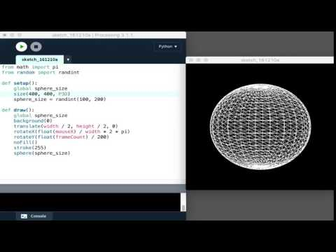 A rotating sphere with Python and Processing