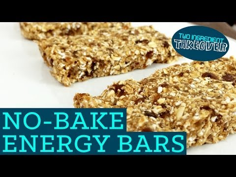 No Bake Energy Bars! Healthy Granola Recipe - Mind Over Munch Two Ingredient Takeover S01E01