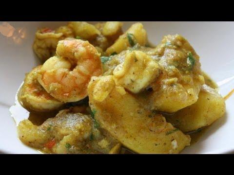 Curry Potato With Shrimp.