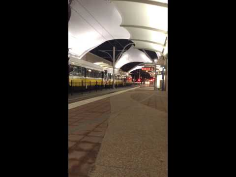 DART Train arriving at DFW Airport Station