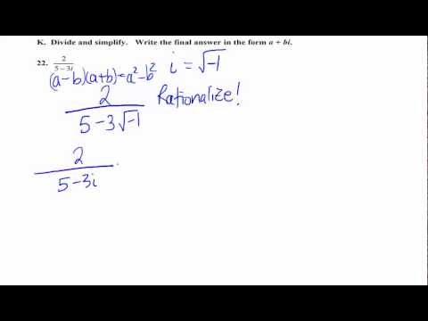 A quotient of complex numbers