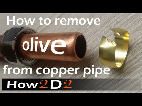 2 easy ways of removing old olive from pipe How to remove copper olive