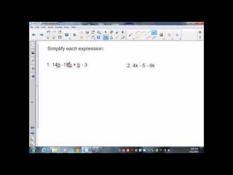 sec2 3 Pre Algebra Simplifying Variable Expressions