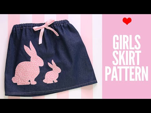 How to sew Children's clothes - FREE children's sewing pattern - girl's skirt