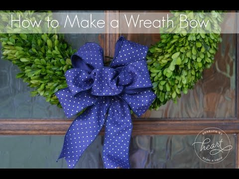 How to Make a Wreath Bow