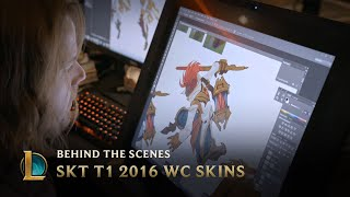 Making the SKT T1 2016 World Championship Team Skins | League of Legends
