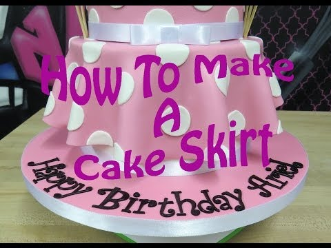 How To Make A Cake Skirt