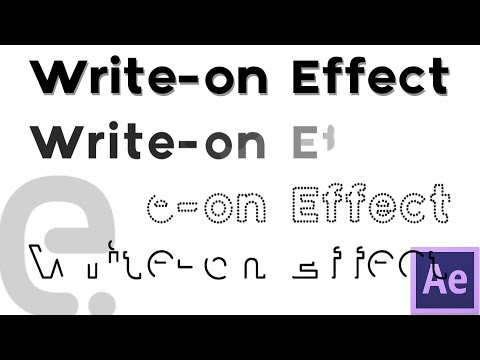 Write-on / Self-Writing Text | Motion Graphics After Effects Tutorial
