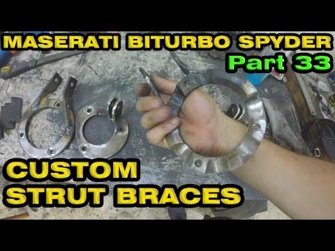 Custom Built Strut Bars / Braces - Maserati Spyder Part 33