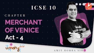 Merchant of Venice (Act 4) ICSE Class 10 English   Selina Solutions - Board 2022   Vedantu 9 and 10