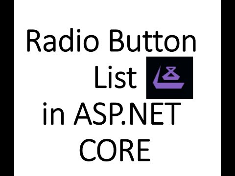Create RadioButtonList, Get selected value From RadioButtonList in ASP.NET Core
