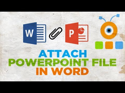 How to Attach PowerPoint File in Word Document