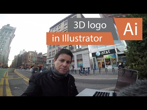 How to make 3d logo effect in Adobe Illustrator CC 2017, tutorial