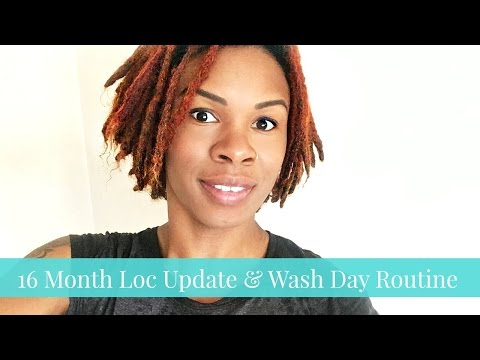 1.5 Year Loc Journey Update & Green holistic Wash Day Routine for Color Treated Hair
