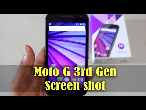 Moto G 3rd Generation 2015 - How to take SCREENSHOT
