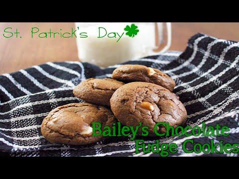 St. Patricks Day Cookies - Bailey's Chocolate Fudge Cookies