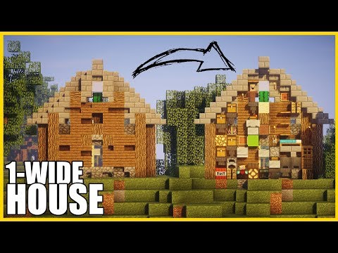 Minecraft - The 1-Wide COMPACT house!