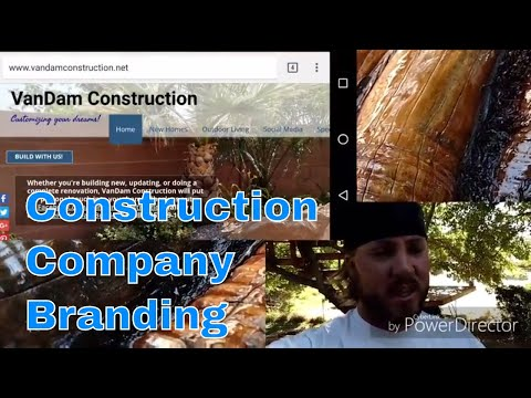 Construction company branding. How to
