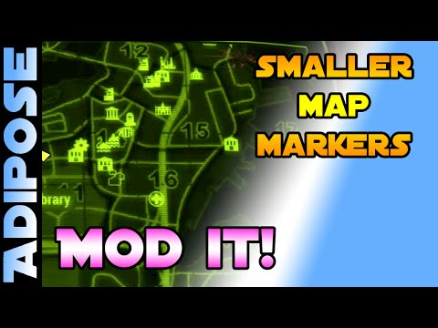 Fallout 4 - Smaller Map Markers - MOD IT! #13