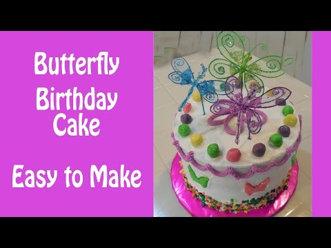How to Make a Colorful Butterfly Birthday Cake